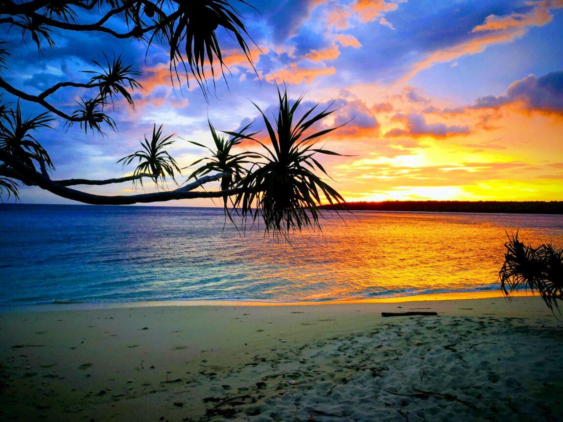 Sunrise over the beach of Tutala, Timor-Leste