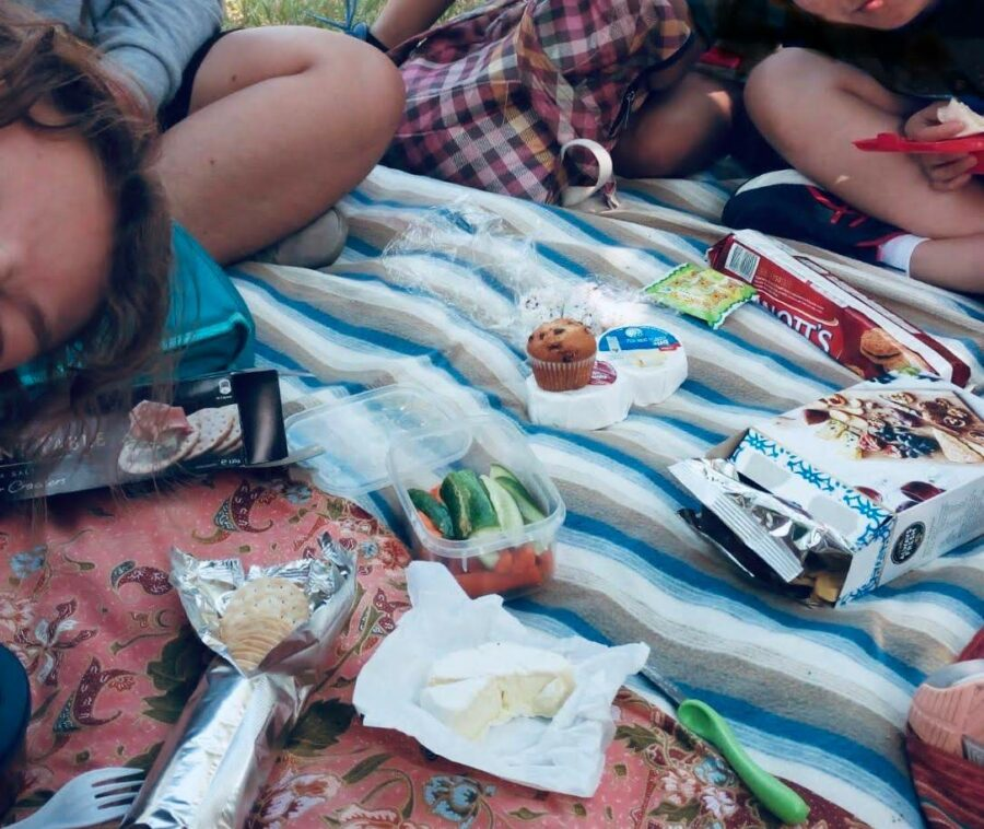 One of the picnics my friends and I have had at school.