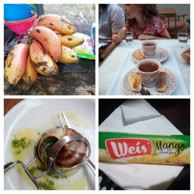 A photo collage of foods with special memories for me.