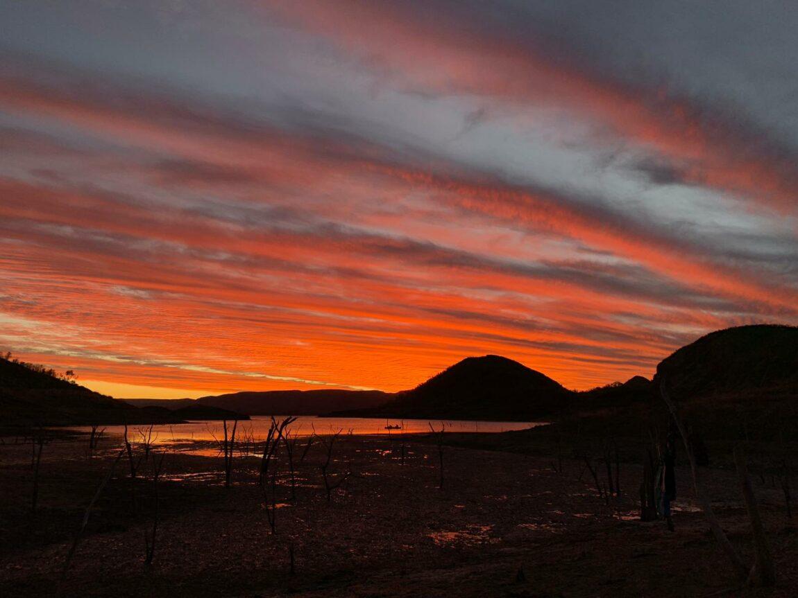 Sunset over Lake Argyle