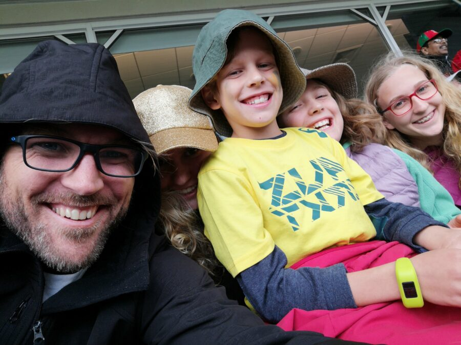 Us at the cricket
