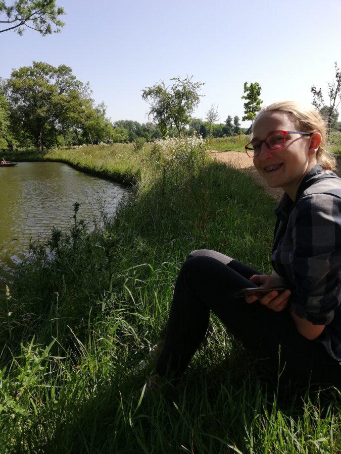 Myself on the banks of Cherwell River