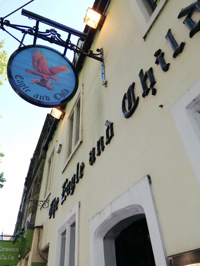 The front of the Eagle and Child