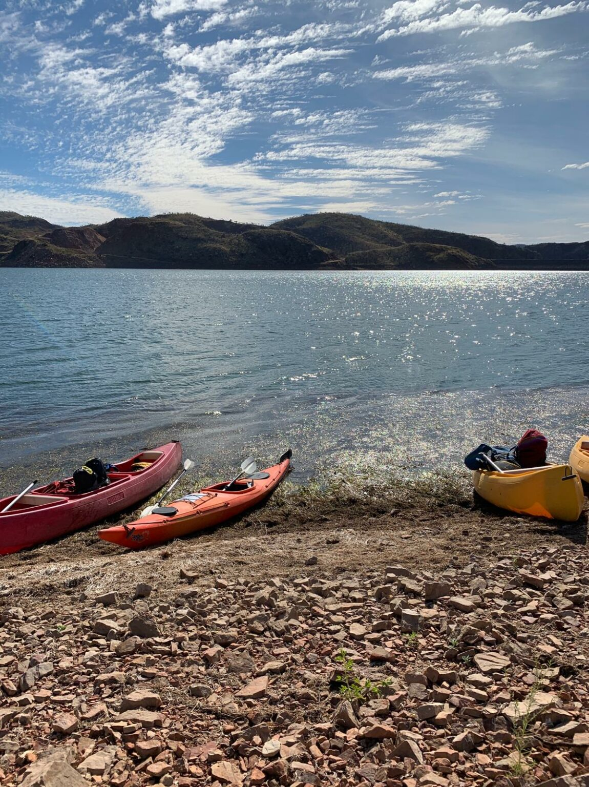 Canoes on Lake Argyle